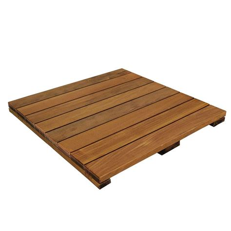 deckwise wisetile 2 ft x 2 ft solid hardwood deck tile
