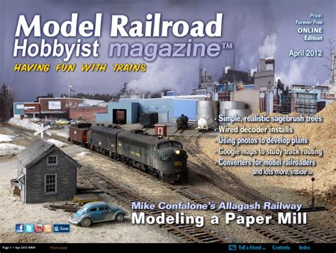 model railroad hobbyist magazine model trains model issuu mrh apr 2012 issue 26 by model railroad hobbyist