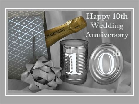 Wedding Anniversary 10th by 10th Wedding Anniversary Greeting Card 709122 Moggies
