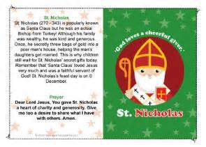 st nicholas prayer card printable quotes