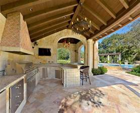 outside kitchen ideas outdoor kitchen designs featuring pizza ovens fireplaces