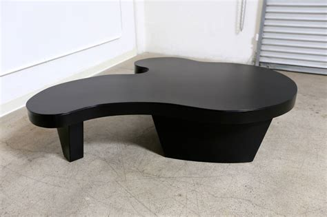 large leather wrapped biomorphic coffee table at 1stdibs