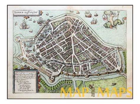 hoorn netherlands map hoorn netherlands antique map