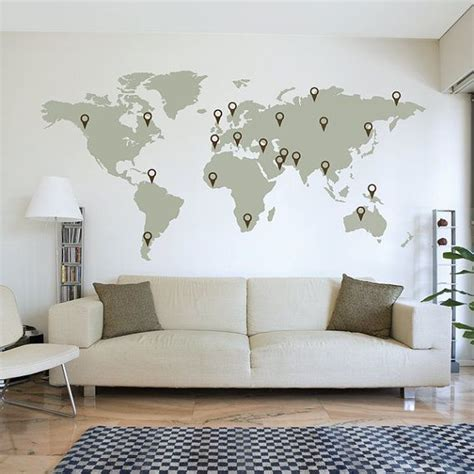 map of the world stickers for walls 20 best ideas about world map wall on travel