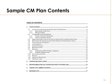 Configuration Management Plan Template Ideasplataforma Com Configuration Management Policy Template