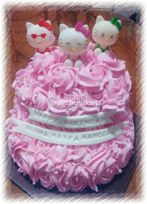 Box Tart Cake Kue Ulang Tahun Tebal Hello jual kue ulang tahun hello 2 tingkat rj kitchen jakarta