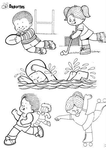 imagenes niños haciendo deporte para colorear jjoo de londres 2012 dibujos de deportes para colorear
