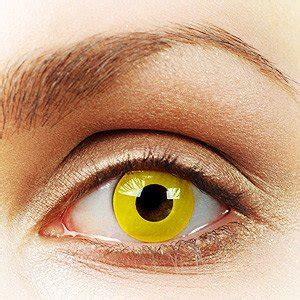 solid yellow contact lenses ronjo magic, costumes and