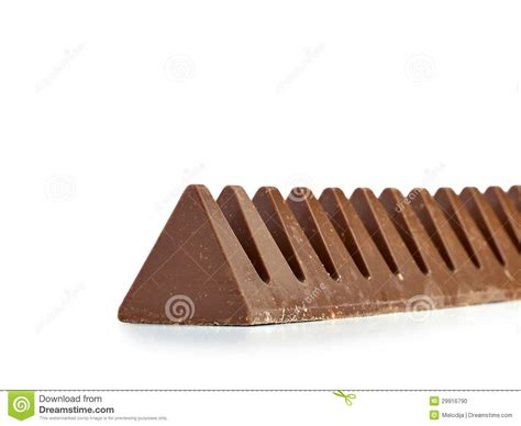 Chocolate Bar In Pyramid Shape. Stock Photo   Image: 29916790