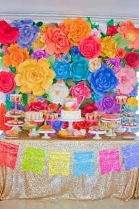 colorful ideas colorful mexican themed baby shower with lots of really