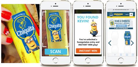 Minions Love Bananas Instant Win - chiquita teams with universal s minions for in store mobile game experience
