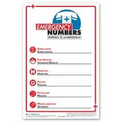 Emergency Phone Number List Template Emergency Phone Number Poster