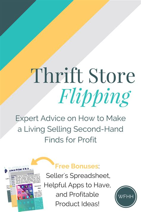 thrift store flipping expert advice on how to make a