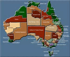 region map of the regions of australia