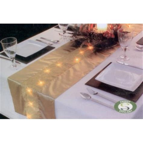 table runner with lights premier decorations led lit gold table runner review