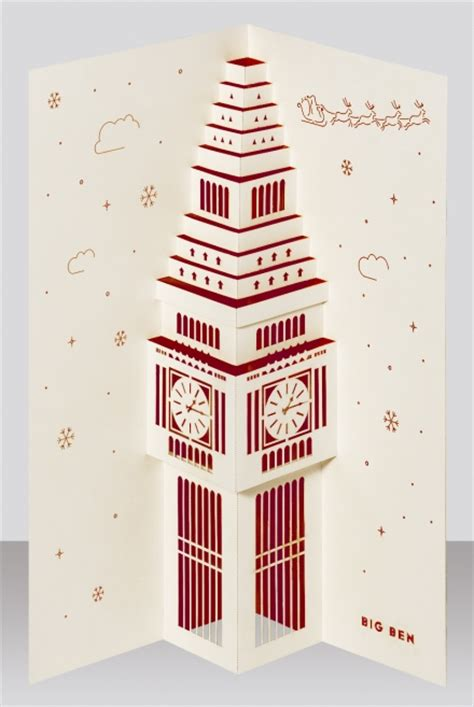big ben christmas pop  card price  shipping  paper tango    bazaar