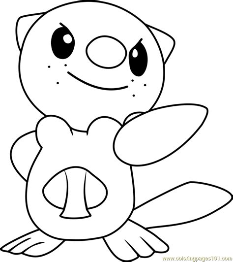 Coloring Pages Of Pokemon Oshawott | oshawott pokemon coloring page free pok 233 mon coloring
