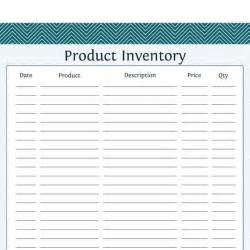 product inventory business planner printable pdf