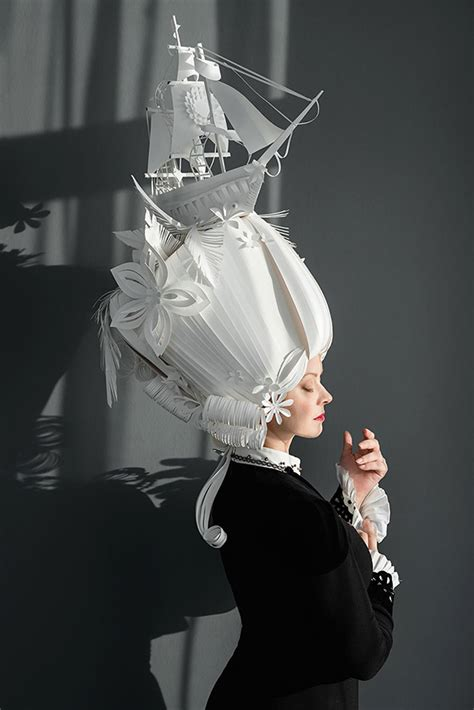 How To Make Paper Costumes - asya kozina makes fashion from paper