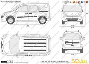 Renault Kangoo Dimensions The Blueprints Vector Drawing Renault Kangoo