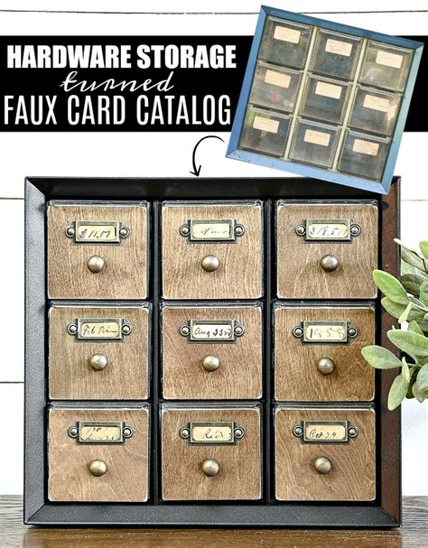 how to make a card catalog how to make a faux card catalog from a hardware organizer