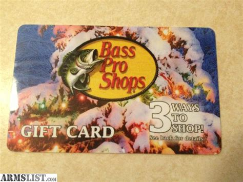 Bass Pro Gift Card Balance Inquiry - armslist for sale bass pro gift card 200
