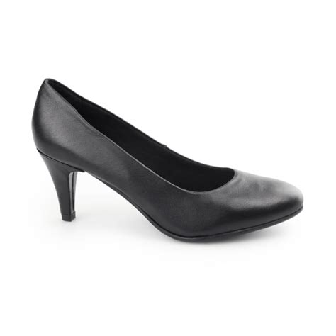 comfort plus heels comfort plus safron ladies leather wide fit court heels