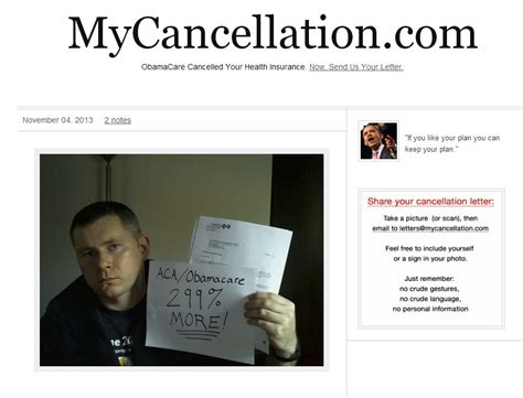 Insurance Cancellation Letter Obamacare website collecting obamacare health insurance cancellation