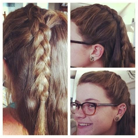 side part french braid great     bangs    face beautiful hair hacks