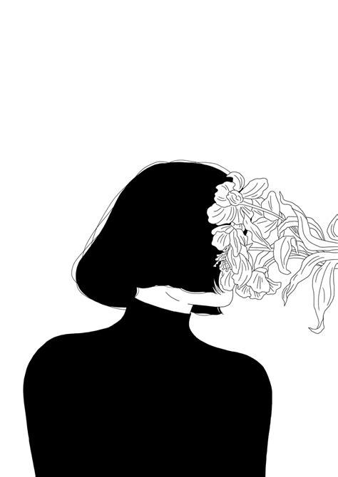 As ilustrações simplificadas e sensíveis, em preto e