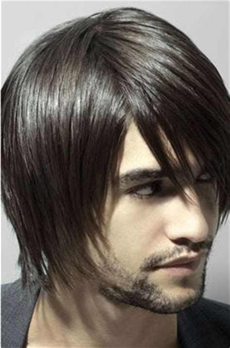 men modern medium short hairstyle   long layered