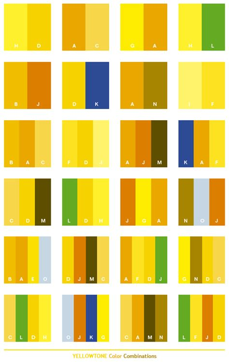 yellow color combinations yellow tone color schemes color combinations color