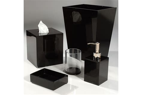 Classic Look With White And Black Bathroom Accessories And Black Bathroom Accessories
