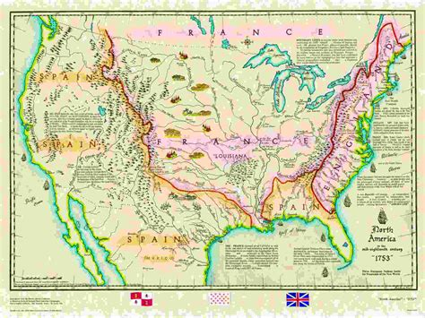 usa map with states labeled america 1753 outline map bamboodownunder