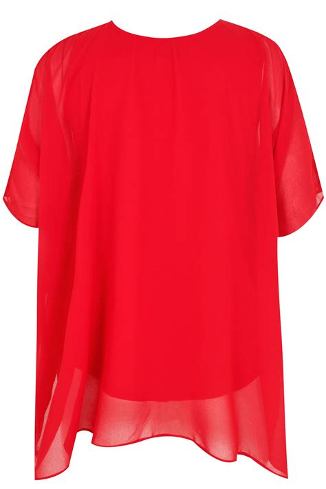Inner Cape Blouse by Cold Shoulder Chiffon Cape Blouse With Diamante