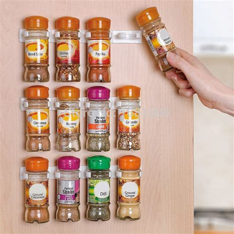 Wall Spice Rack Organizer by Spice Wall Rack Storage Plastic Kitchen Organizer 12