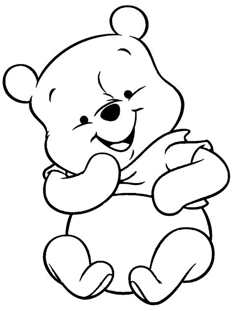coloring pages pooh bear coloring home