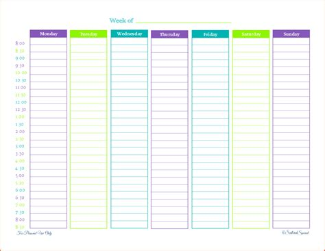 weekly printable planner bookletemplateorg