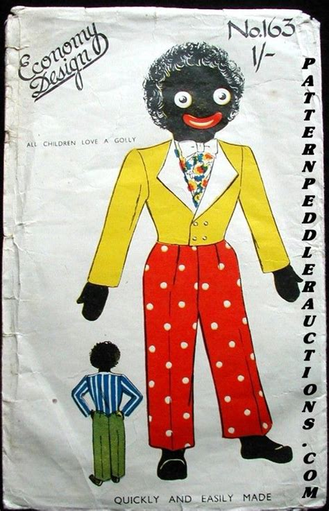 pattern for fabric golliwog 1940 s golliwog economy design sewing pattern clothes