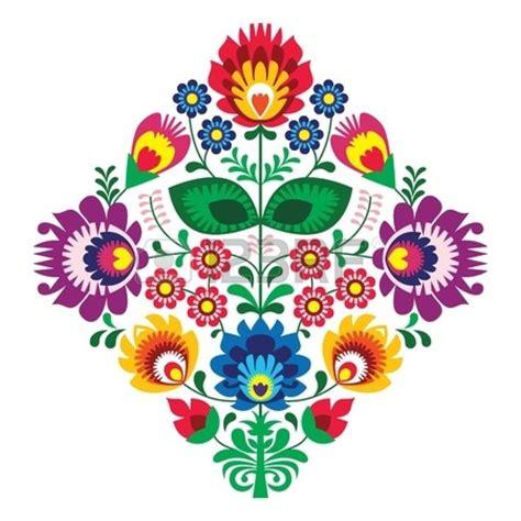 imagenes de flores mexicanas folk bordado con flores patr 243 n tradicional polaca foto