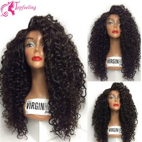 long black curly human hair wig new long curly wig virgin brazilian hair lace front wigs