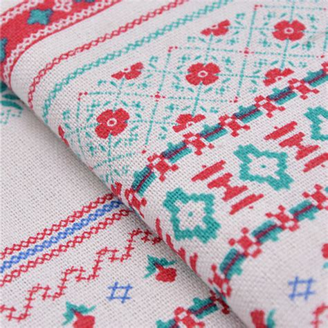 patchwork upholstery fabric 150x100cm natural stripe cotton ramie fabric ethnic print