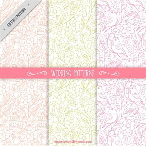 freepik wedding pattern sketches colored floral wedding patterns vector free