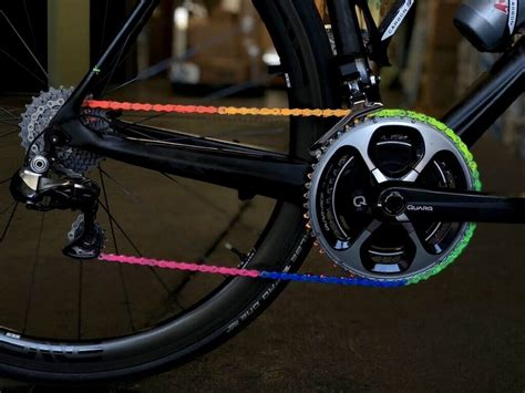 colored bike chains wend bike introduces colored chain wax