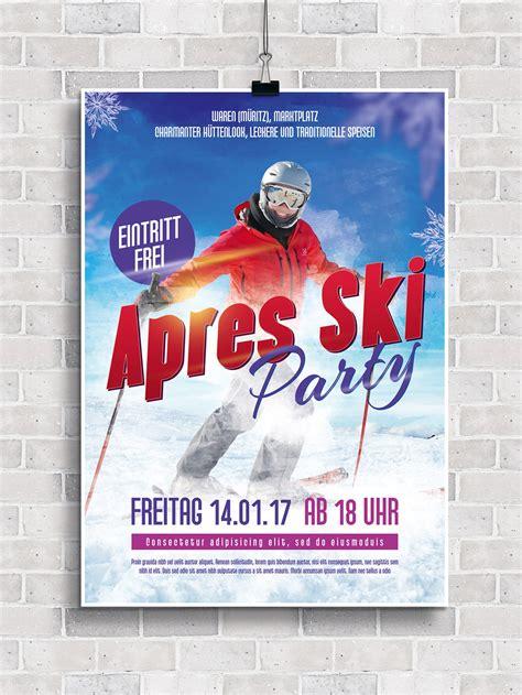 Indesign Vorlagen Kaufen flyer vorlagen f 252 r apr 232 s ski und h 252 ttengaudi