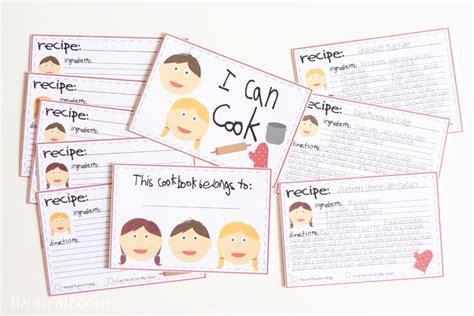 printable preschool recipes make a kid s cookbook the crafting chicks