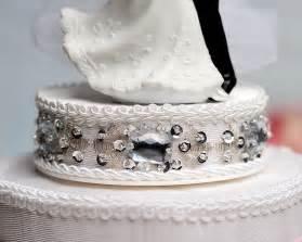 rhinestone cake and groom rhinestone hearts cake topper wedding collectibles