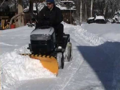 lawn mower snow plow youtube