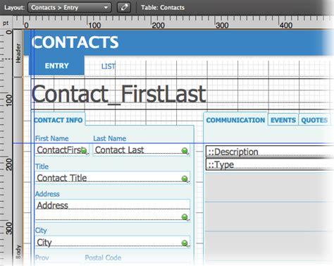 layout grid mode visual design basics for filemaker line design for