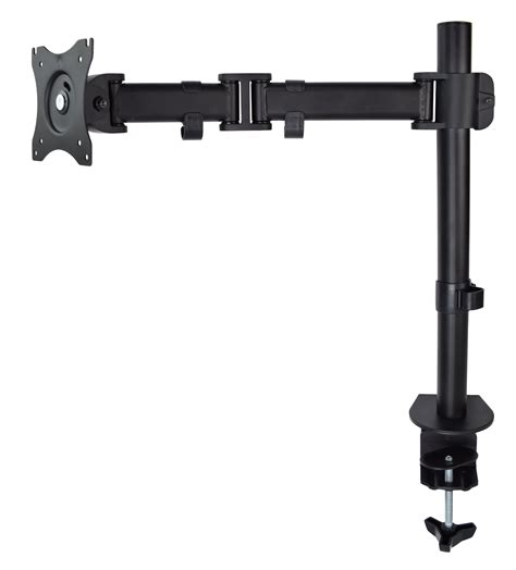 Used Single Monitor Fully Adjustable Desk Mount Stand For Adjustable Monitor Stands For Desk
